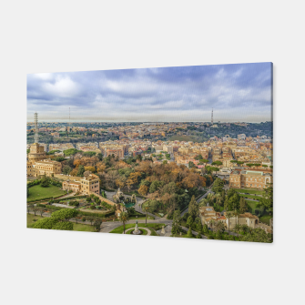 Thumbnail image of Vatican Gardens Aerial View, Rome, Italy Canvas, Live Heroes