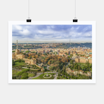Thumbnail image of Vatican Gardens Aerial View, Rome, Italy Poster, Live Heroes