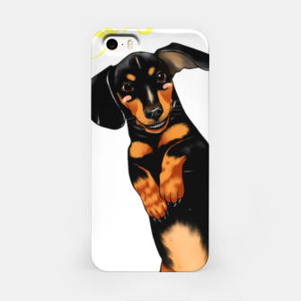 Miniatur Sausage Dog iPhone Case, Live Heroes