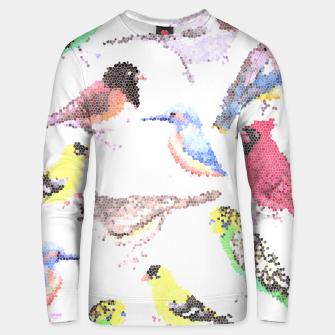 Miniatur Various birds stained glass art  Unisex sweater, Live Heroes