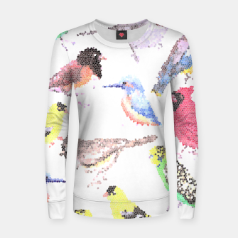 Miniatur Various birds stained glass art  Women sweater, Live Heroes
