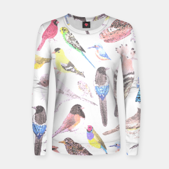 Miniatur Birds of America- pets and wild birds Women sweater, Live Heroes