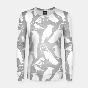 Wild birds mosaic effect Women sweater thumbnail image
