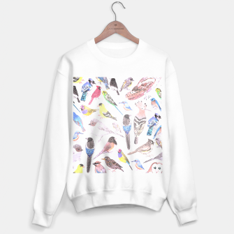 Thumbnail image of Birds of America- pets and wild birds Sweater regular, Live Heroes