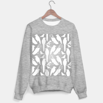 Wild birds mosaic effect Sweater regular Bild der Miniatur