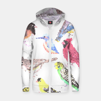 Miniatur Various birds stained glass art  Zip up hoodie, Live Heroes