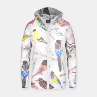 Miniatur Birds of America- pets and wild birds Zip up hoodie, Live Heroes