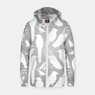 Wild birds mosaic effect Zip up hoodie Bild der Miniatur