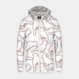 Miniatur Male Northern Cardinal seamless Zip up hoodie, Live Heroes