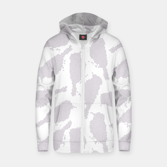 Birds in mosaic effect Zip up hoodie Bild der Miniatur
