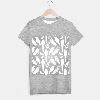 Wild birds mosaic effect T-shirt regular Bild der Miniatur