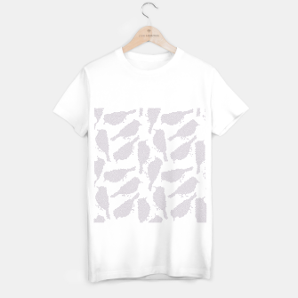 Birds in mosaic effect T-shirt regular Bild der Miniatur