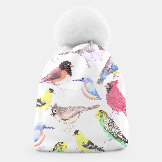 Miniatur Various birds stained glass art  Beanie, Live Heroes