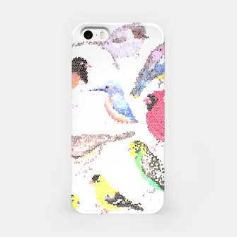 Miniatur Various birds stained glass art  iPhone Case, Live Heroes