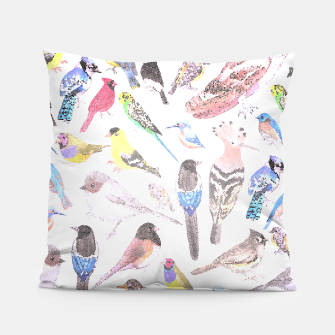 Thumbnail image of Birds of America- pets and wild birds Pillow, Live Heroes