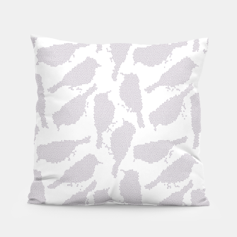 Birds in mosaic effect Pillow Bild der Miniatur