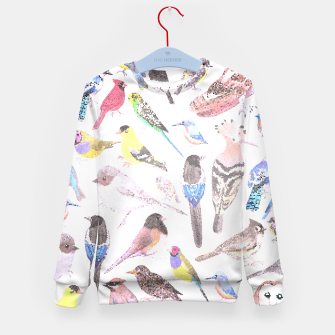 Thumbnail image of Birds of America- pets and wild birds Kid's sweater, Live Heroes