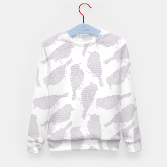 Birds in mosaic effect Kid's sweater Bild der Miniatur
