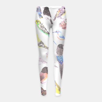 Thumbnail image of Birds of America- pets and wild birds Girl's leggings, Live Heroes