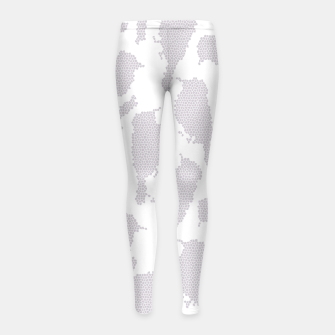 Birds in mosaic effect Girl's leggings Bild der Miniatur