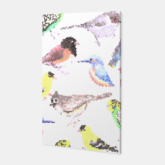 Miniatur Various birds stained glass art  Canvas, Live Heroes