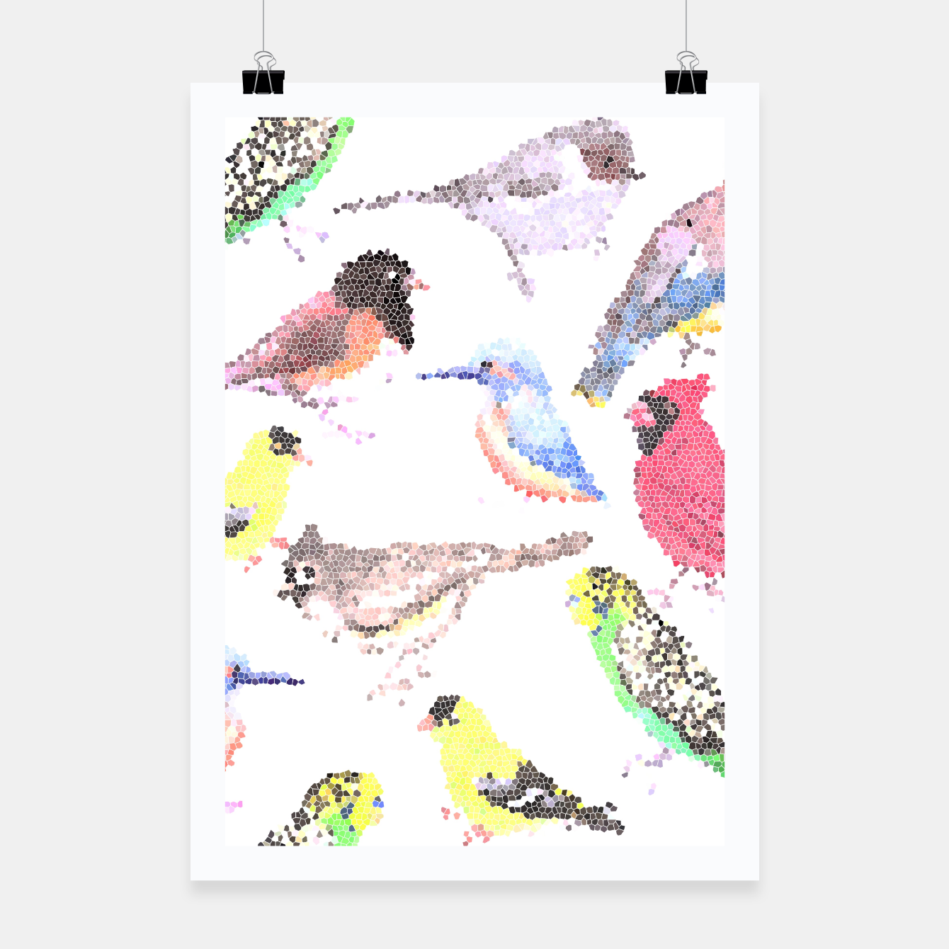 Image of Various birds stained glass art  Poster - Live Heroes