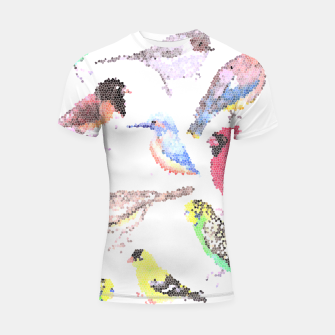 Thumbnail image of Various birds stained glass art  Shortsleeve rashguard, Live Heroes