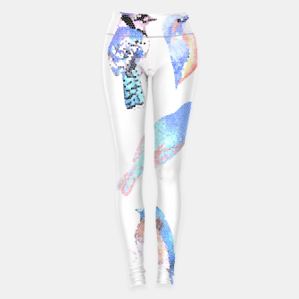 Miniatur Blue birds in mosaic effect Leggings, Live Heroes