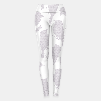 Birds in mosaic effect Leggings Bild der Miniatur