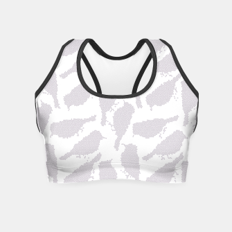 Thumbnail image of Birds in mosaic effect Crop Top, Live Heroes