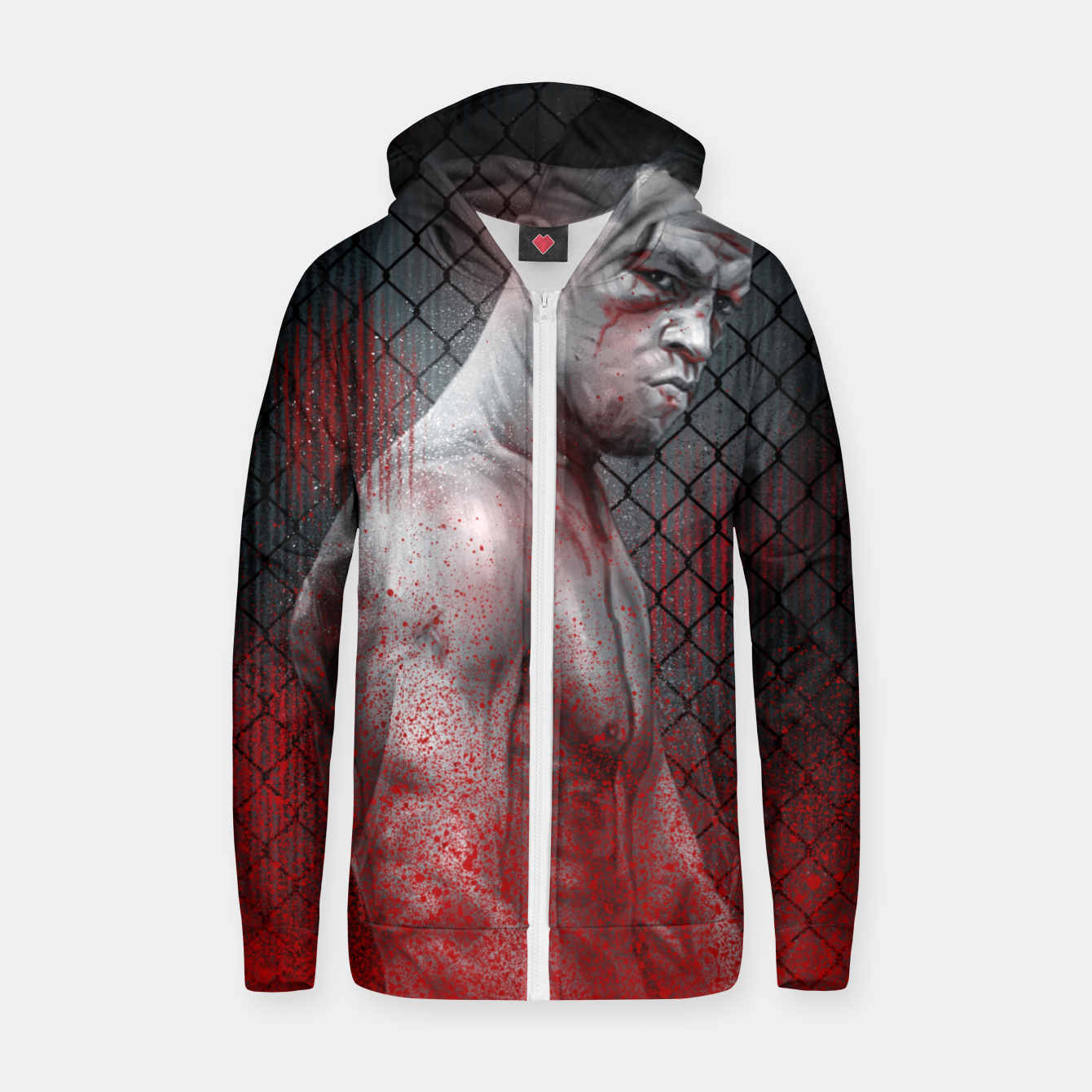 Image of Nate Diaz Zip up hoodie - Live Heroes