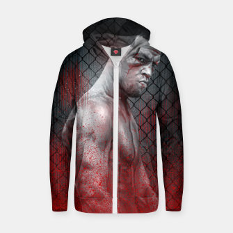 Thumbnail image of Nate Diaz Zip up hoodie, Live Heroes