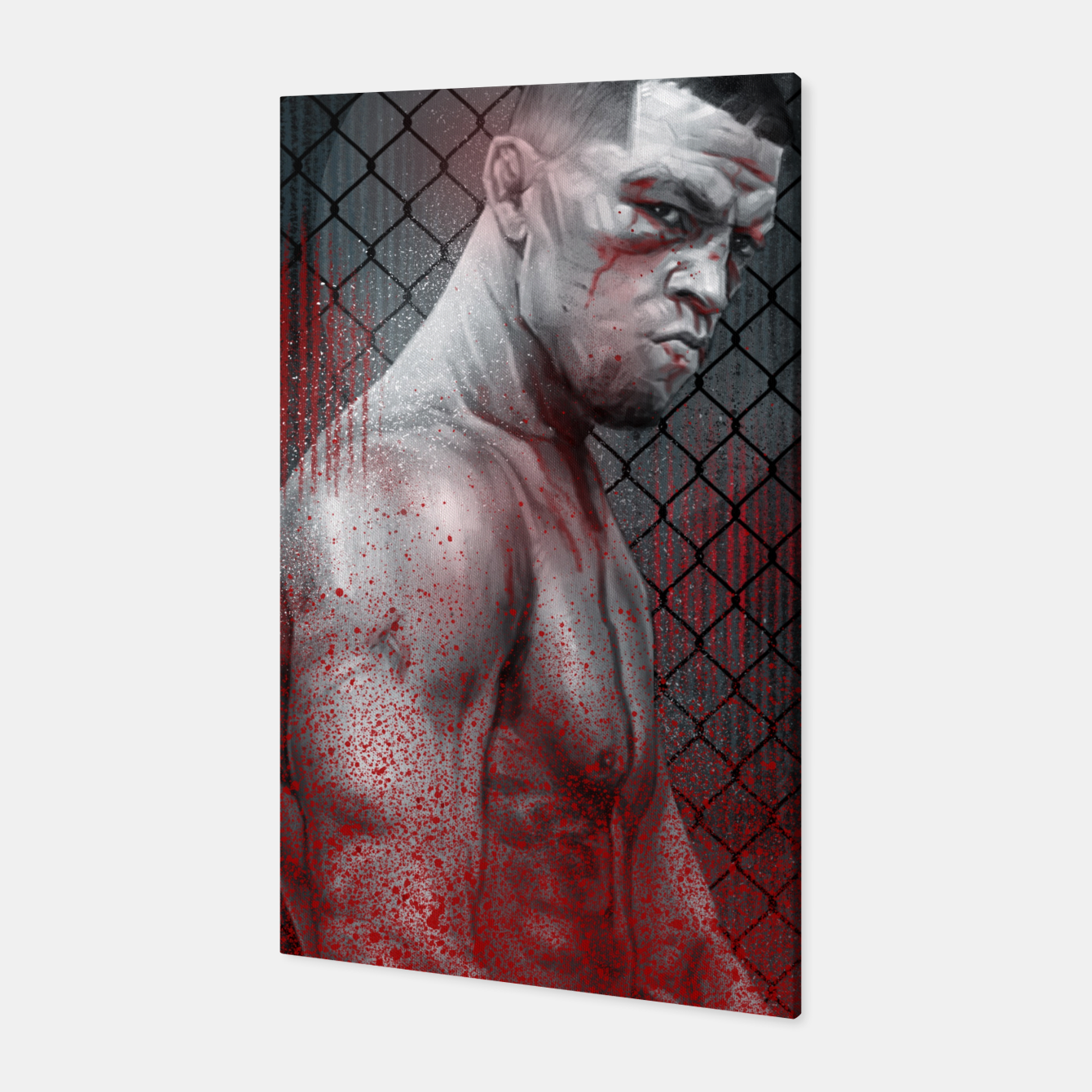 Image of Nate Diaz Canvas - Live Heroes