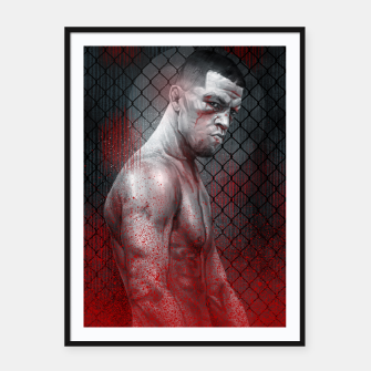 Thumbnail image of Nate Diaz Framed poster, Live Heroes