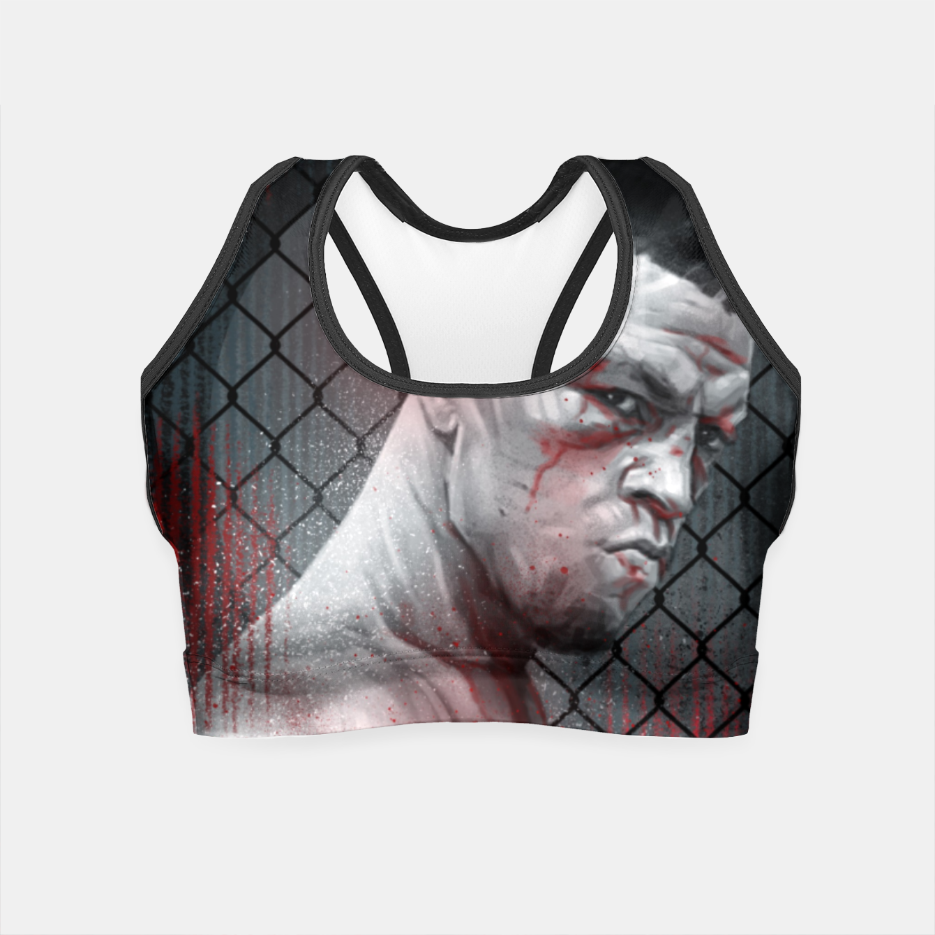 Image of Nate Diaz Crop Top - Live Heroes
