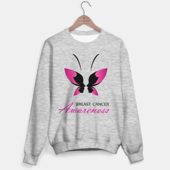Thumbnail image of Breast Cancer Awareness with pink butterfly Sweater regular, Live Heroes