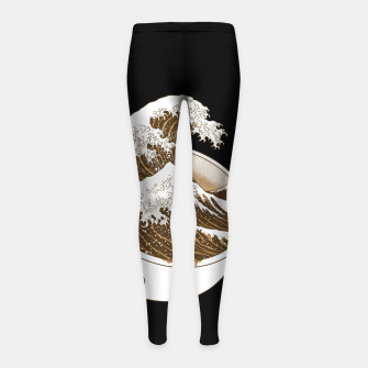 Thumbnail image of The Great Wave off Coffee Girl's leggings, Live Heroes