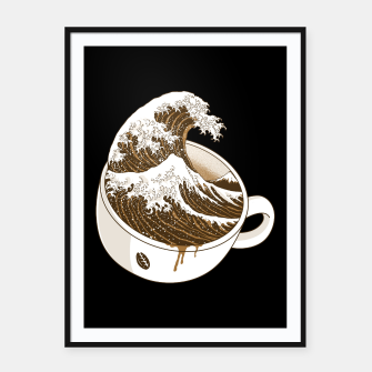 Thumbnail image of The Great Wave off Coffee Framed poster, Live Heroes