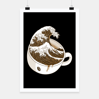 Thumbnail image of The Great Wave off Coffee Poster, Live Heroes