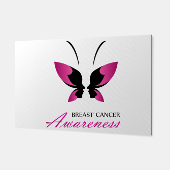 Miniatur Breast Cancer Awareness with pink butterfly Canvas, Live Heroes