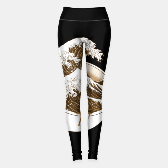 Thumbnail image of The Great Wave off Coffee Leggings, Live Heroes