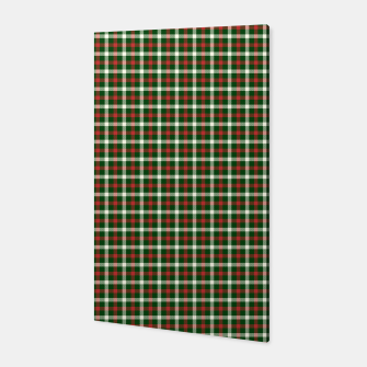 Imagen en miniatura de Christmas Holly Green and Red Tartan Check with Wide White Lines Canvas, Live Heroes