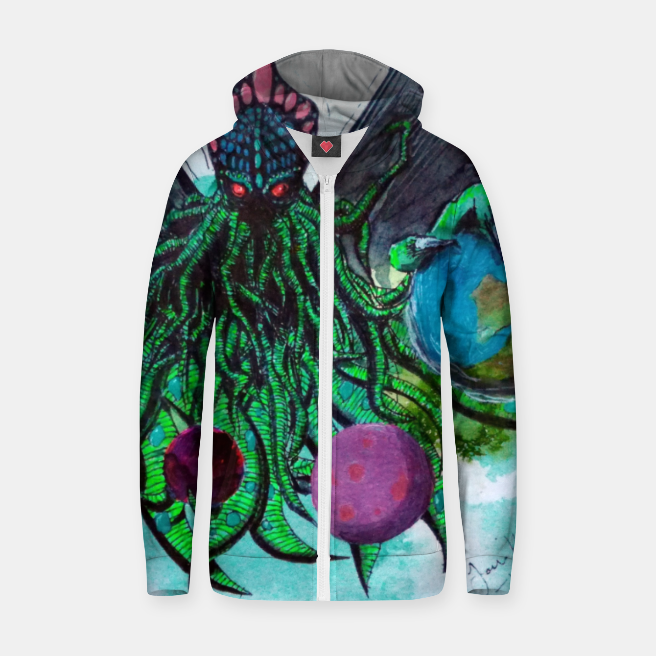 Image of My collection Zip up hoodie - Live Heroes