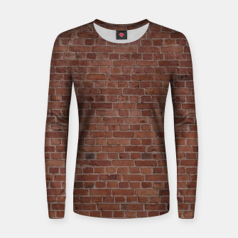 Thumbnail image of Brooklyn NYC Loft Appartment Brown Stone Brick Wall Women sweater, Live Heroes
