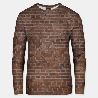 Miniatur NYC Big Apple Manhattan City Brown Stone Brick Wall Unisex sweater, Live Heroes