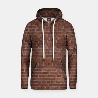 Thumbnail image of Brooklyn NYC Loft Appartment Brown Stone Brick Wall Hoodie, Live Heroes
