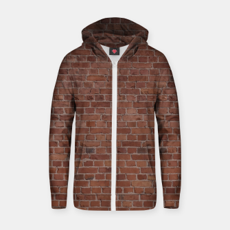 Thumbnail image of Brooklyn NYC Loft Appartment Brown Stone Brick Wall Zip up hoodie, Live Heroes