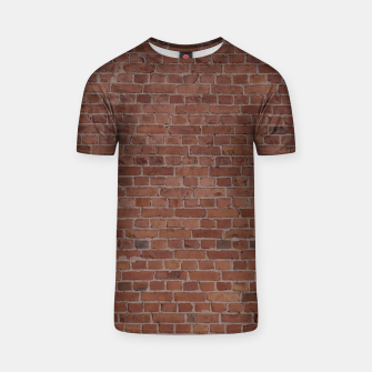 Thumbnail image of Brooklyn NYC Loft Appartment Brown Stone Brick Wall T-shirt, Live Heroes