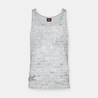 Miniatur Whitewashed Brick Wall - Light White Wash Stone Brick Tank Top, Live Heroes