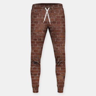 Thumbnail image of Brooklyn NYC Loft Appartment Brown Stone Brick Wall Sweatpants, Live Heroes